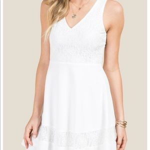 Francesca's Aida Scoop Neck Lace A-line Dress